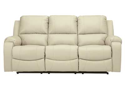 Rackingburg Cream Power Reclining Sofa