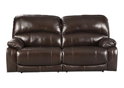 Hallstrung Chocolate Power Reclining Sofa w/Adjustable Headrest