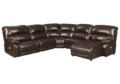 Hallstrung Chocolate Reclining Sectional