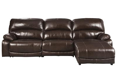 Image for Hallstrung Chocolate RAF Chaise Reclining Sectional
