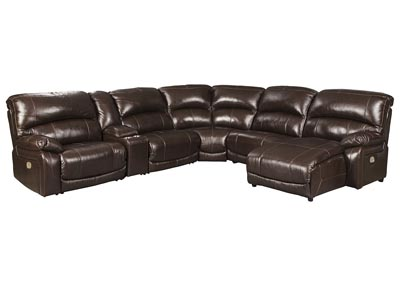 Image for Hallstrung Chocolate Reclining Sectional w/Console