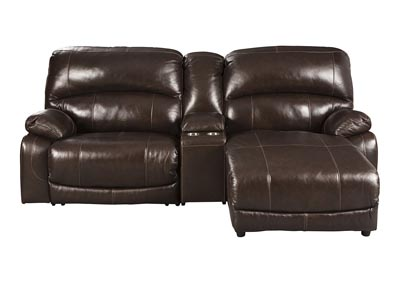 Image for Hallstrung Chocolate RAF Chaise Reclining Sectional w/Console