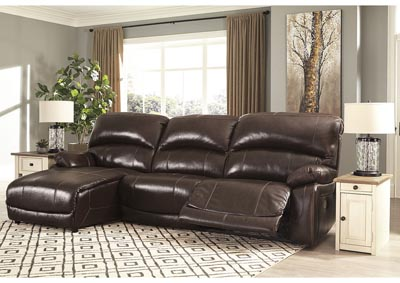 Hallstrung Chocolate LAF Chaise Reclining Sofa