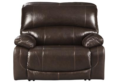 Hallstrung Chocolate Power Recliner w/Adjustable Headrest