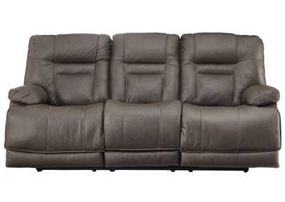Wurstrow Smoke Power Reclining Sofa w/Adjustable Headrest