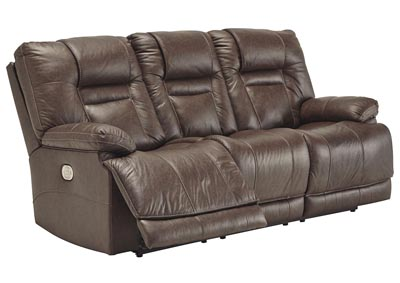 Image for Wurstrow Umber Power Reclining Sofa w/Adjustable Headrest