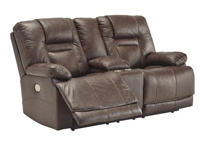 Wurstrow Umber Power Reclining Loveseat w/Adjustable Headrest