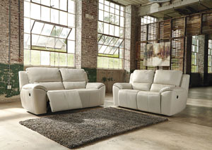 Valeton Cream Power Reclining Sofa & Loveseat