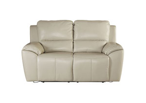 Valeton Cream Power Reclining Loveseat