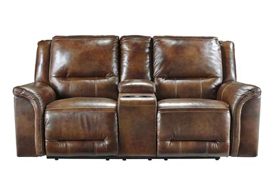 Jayron Harness Double Reclining Power Loveseat w/Console