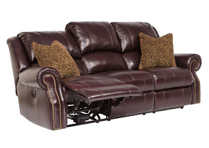Walworth Black Cherry Reclining Sofa