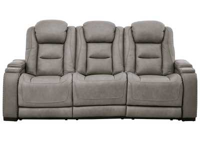 Image for The Man-Den Gray Power Reclining Sofa