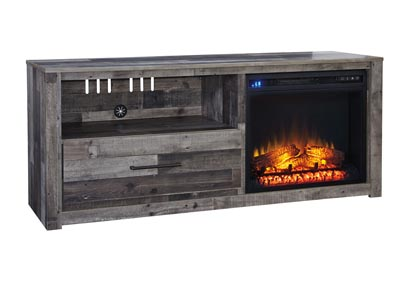 "Derekson Multi Gray 59"" TV Stand w/Fireplace Insert Infrared"
