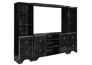 Amrothi Black Large Entertainment Center