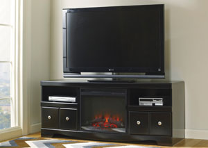Shay Large TV Stand w/LED Fireplace