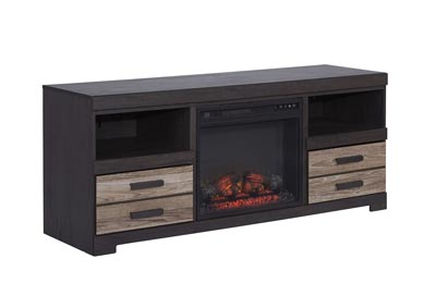 "Image for Harlinton Warm Gray 63"" TV Stand w/Fireplace Insert Infrared"