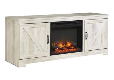 "Bellaby Whitewash 63"" TV Stand w/Fireplace Insert Infrared"