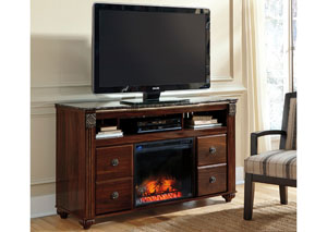 Gabriela Large TV Stand w/LED Fireplace Insert