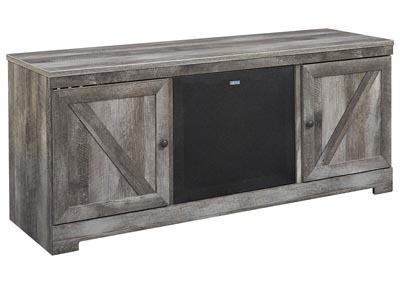 Wynnlow Gray LG TV Stand w/Black Large Integrated Audio