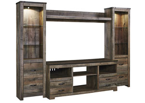 Image for Trinell Brown Entertainment Center w/Fireplace Option