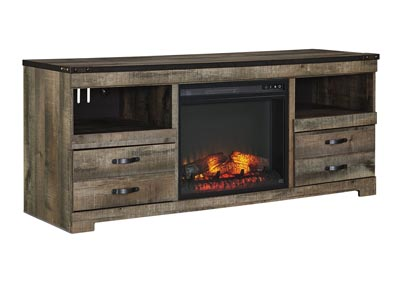 "Image for Trinell Brown 63"" TV Stand w/Fireplace Insert Infrared"