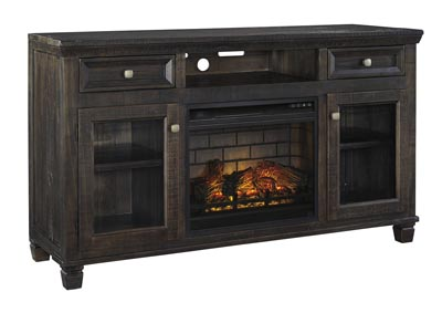 "Image for Townser Grayish Brown 62"" TV Stand w/Fireplace Insert Infrared"