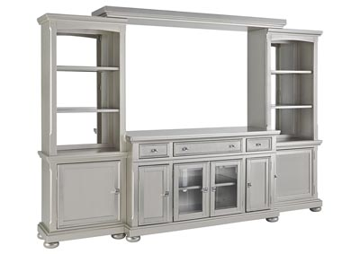 Coralayne Silver Entertainment Center