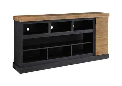 Tonnari Two Tone XL TV Stand w/Fireplace Option