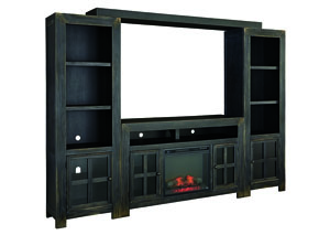 "Image for Gavelston Black 61"" TV Stand w/Fireplace Insert Infrared"