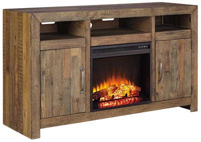Sommerford Brown LG TV Stand w/Fireplace