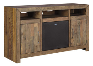 Sommerford Brown Large TV Stand w/Large Integrated Audio