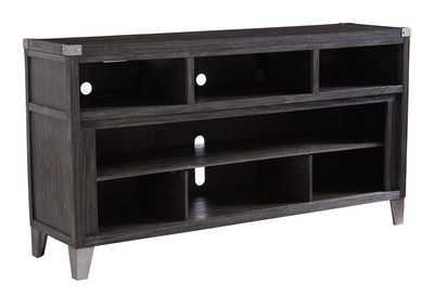 Todoe Dark Gray Large TV Stand w/Fireplace Option