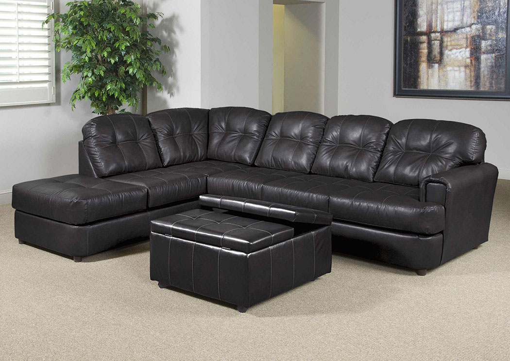 Eastern Charcoal Sectional,Atlantic Bedding & Furniture
