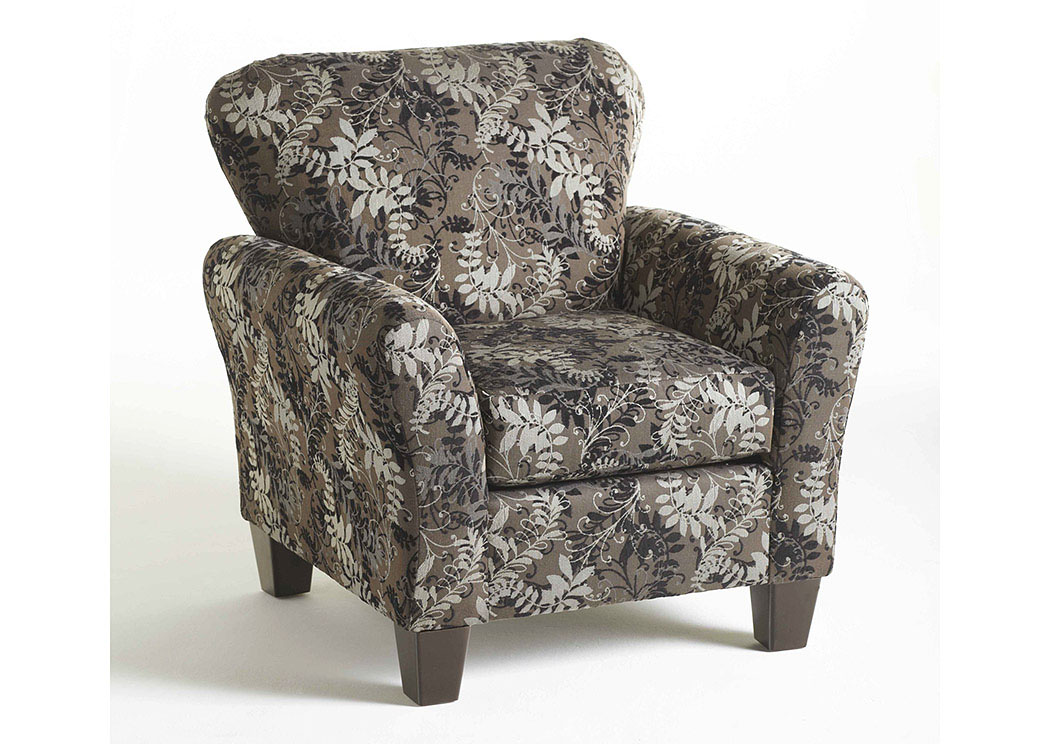 Candella Pewter Accent Chair,Atlantic Bedding & Furniture
