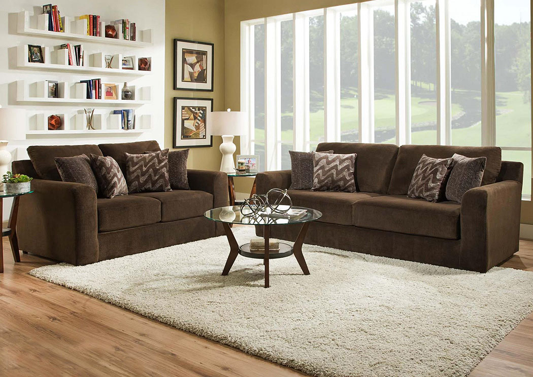 4100 Dynasty Chocolate Sofa,Atlantic Bedding & Furniture