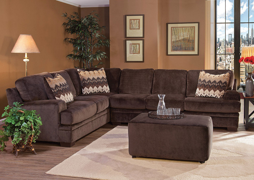 Olympian Chocolate Padma Otter Sectional,Atlantic Bedding & Furniture