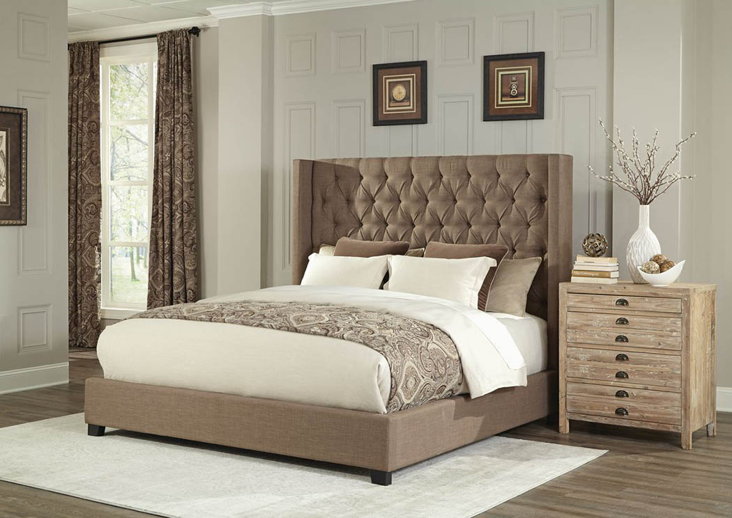 9247 Brooks Copper Queen Upholstered Bed,Atlantic Bedding & Furniture