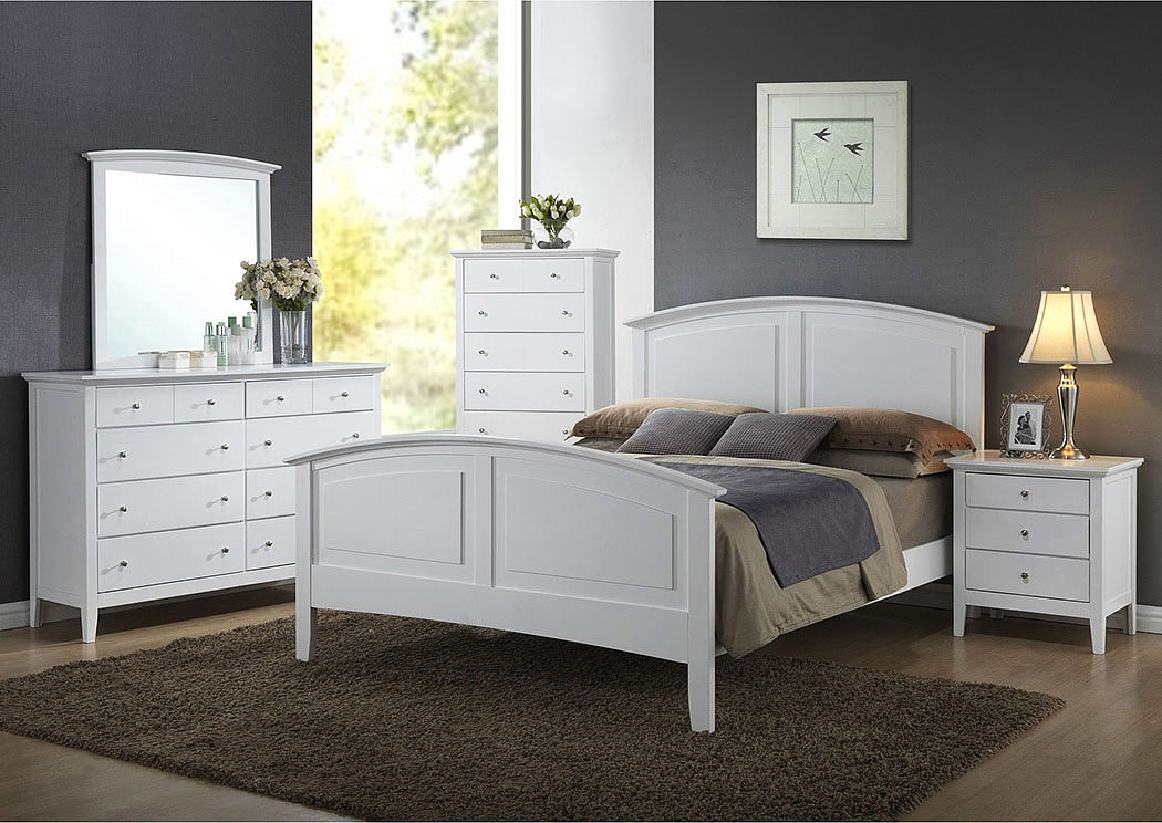 Atlantic Bedding And Furniture Daniels King Bed White