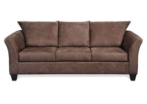 Sienna Chocolate Stationary Sofa