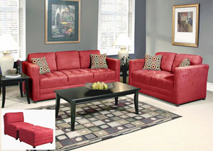 Sienna Redrock Skinny Minnie Godiva Stationary Sofa and Loveseat