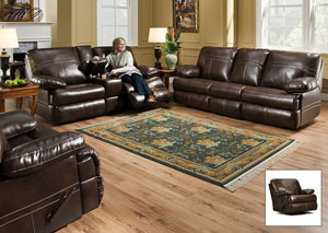 Miracle Saddle Bonded Leather Queen Sleeper Sofa