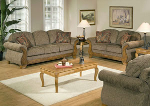 Torrey Tomato Jada Tomato Stationary Sofa and Loveseat