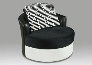 900 Jefferson-Implosion Black Swivel Chair