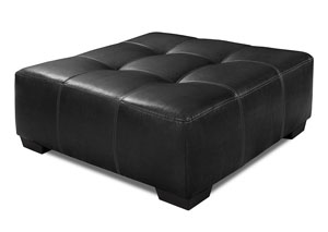 933 Jefferson Black Cocktail Ottoman