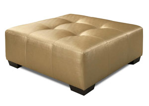 933 Shimmer Gold Cocktail Ottoman