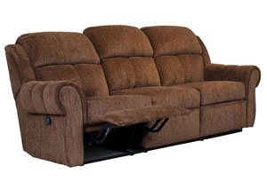 Santino Mocha Reclining Sofa (Shown in Cinnamon)