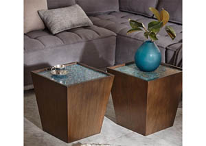 Mosaic Wooden Accent Table