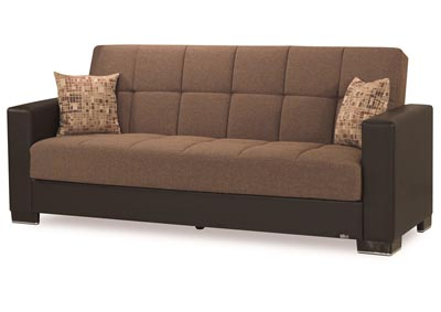 Armada Brown/Brown #14 Chenille Polyester Sofa