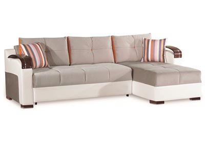 Image for Divan Deluxe Gray Microfiber Sectional