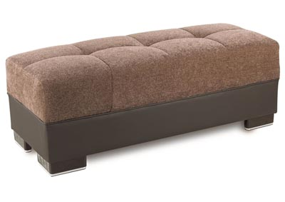 Image for Downtown Brown Chenille Ottoman